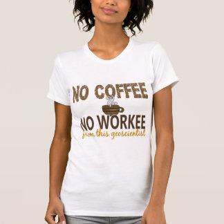 No Coffee No Workee Geoscientist Tee Shirts