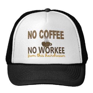 No Coffee No Workee Hairdresser Mesh Hats