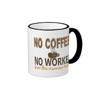 No Coffee No Workee Insurance Broker Mugs