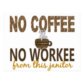No Coffee No Workee Janitor Postcard