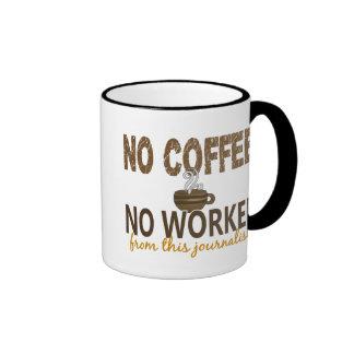 No Coffee No Workee Journalist Coffee Mugs