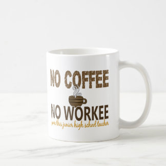 No Coffee No Workee Junior High School Teacher Mug