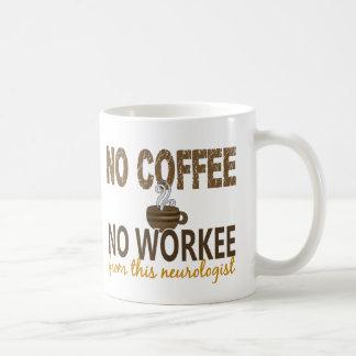 No Coffee No Workee Neurologist Basic White Mug
