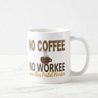 No Coffee No Workee Postal Worker Coffee Mug