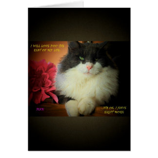 No Commitment Issues with Nine Lives Cat Greeting Card