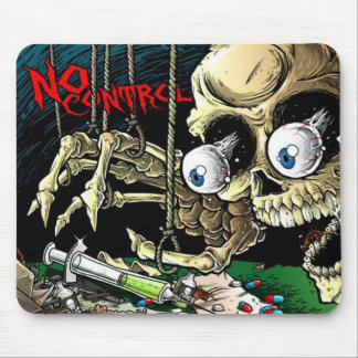 No Control Skeleton Mouse Pad