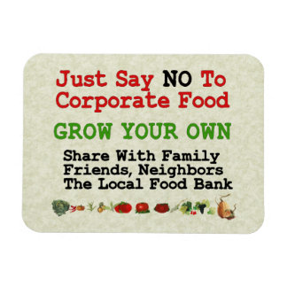 No Corporate Food Flexible Magnets