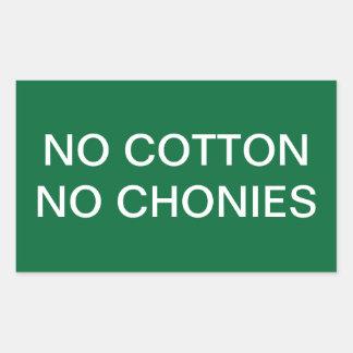 No Cotton funny sticker