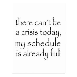 No Crisis Today Postcard