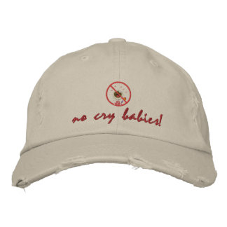 no_crybabies no cry babies embroidered hats