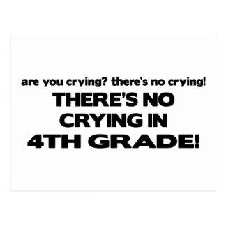 No Crying - 4th Grade Postcard