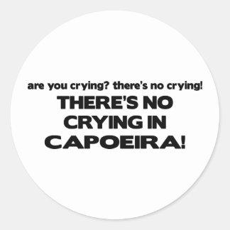 No Crying - Capoeira Round Sticker
