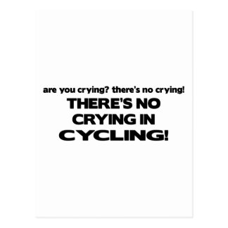 No Crying - Cycling Postcard