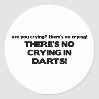 No Crying - Darts Classic Round Sticker