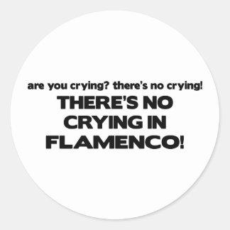 No Crying - Flamenco Classic Round Sticker