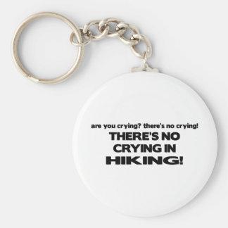 No Crying - Hiking Basic Round Button Key Ring