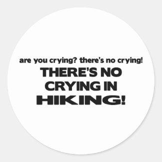 No Crying - Hiking Classic Round Sticker