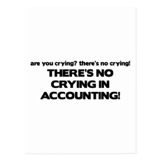 No Crying in Accounting Postcard