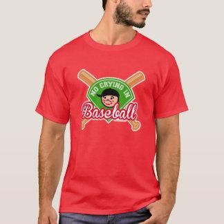 No Crying in Baseball - Cute Kid Bats Diamond T-Shirt