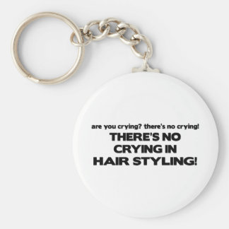 No Crying in Hair Styling Key Ring
