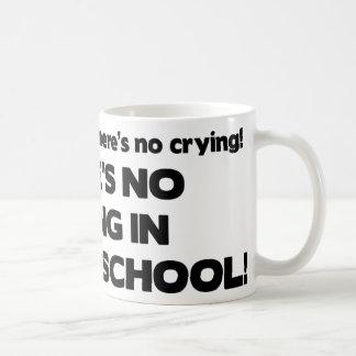 No Crying in Nursing School Basic White Mug