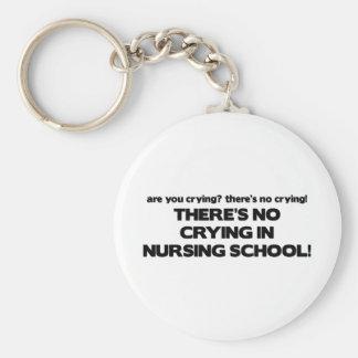 No Crying in Nursing School Keychain