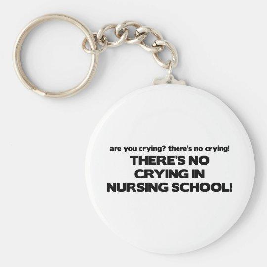 No Crying in Nursing School Key Ring