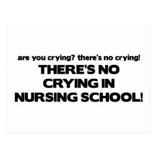 No Crying in Nursing School Postcard