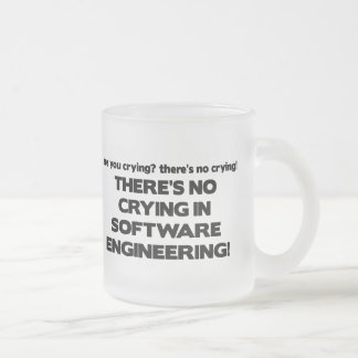 No Crying in Software Engineering Frosted Glass Mug