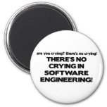 No Crying in Software Engineering 6 Cm Round Magnet