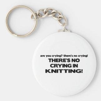 No Crying - Knitting Key Ring