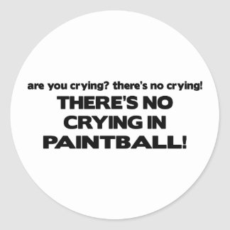 No Crying - Paintball Classic Round Sticker
