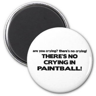 No Crying - Paintball 6 Cm Round Magnet