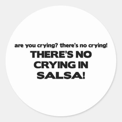 No Crying - Salsa Round Sticker