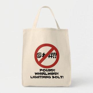 No Cursing Sign Tote Bag