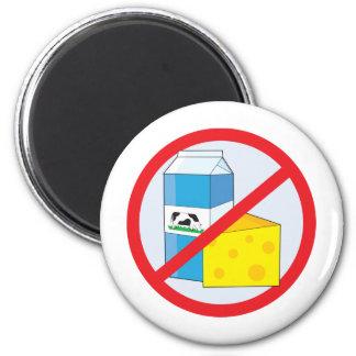 No Dairy 6 Cm Round Magnet