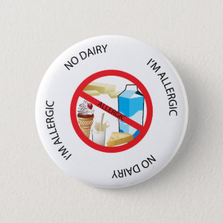 No Dairy Allergy Alert Button