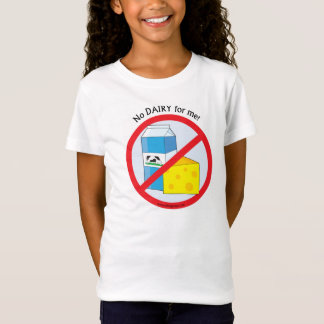 """""""No Dairy for me"""" Allergy Awareness TShirt"""