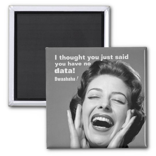 No Data? Vintage-Inspired School Psychology Magnet