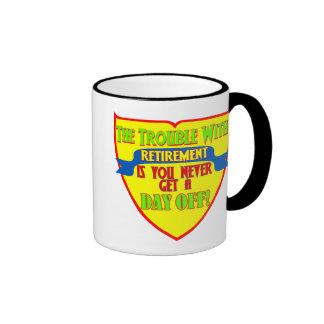 No Day Off Retired Ringer Mug