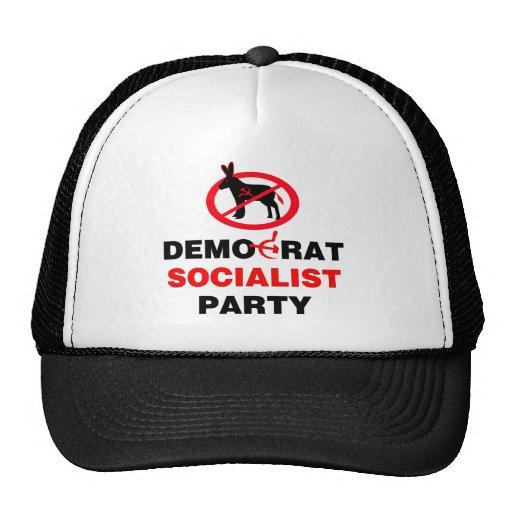 No Democrat Socialist Party (v100) Mesh Hat