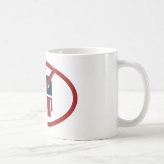 No democrates basic white mug
