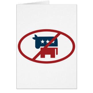 No democrates greeting card