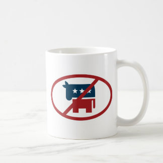 No democrates classic white coffee mug