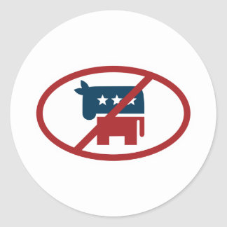 No democrates round sticker