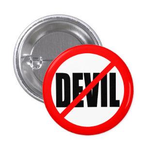 """NO DEVIL"" 3 CM ROUND BADGE"
