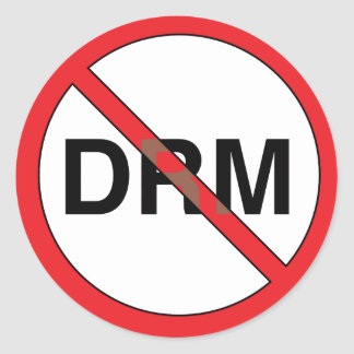 No Digital Right Management (DRM) Classic Round Sticker