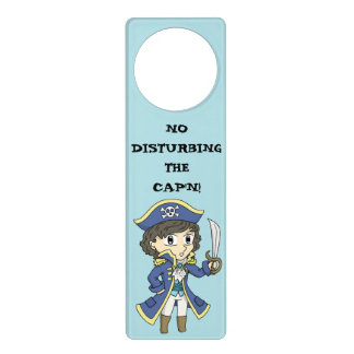 No disturbing the Cap'n! - Pirate door hanger