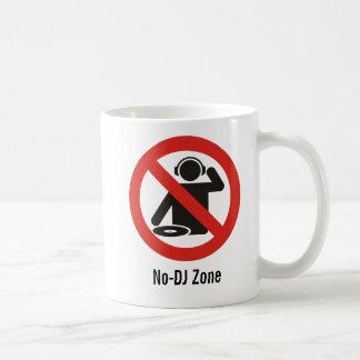 No-dj zone basic white mug