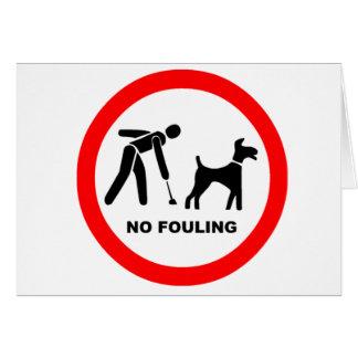No Dog Fouling Symbol Card